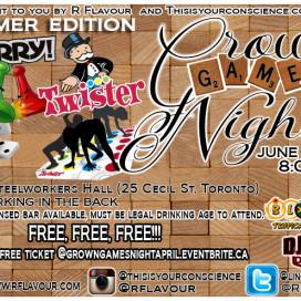 Grown Games Night Summer Edition!
